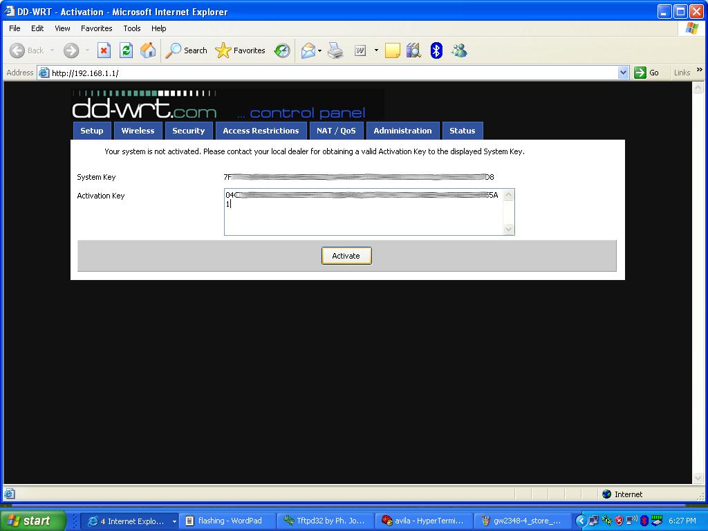 activation key superchannel dd-wrt