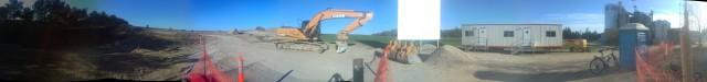 Panorama of Bio-En construction site