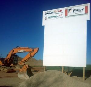Bio-En construction sign